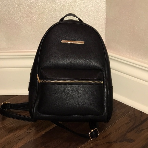 Aldo Handbags - Black Leather Backpack
